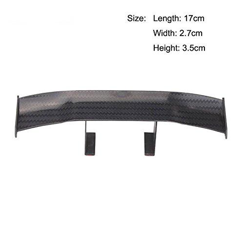 Sedeta® Car Mini aileron de Queue arrière Wing GT Fibre de Carbone Décoration sans Perforation Noir