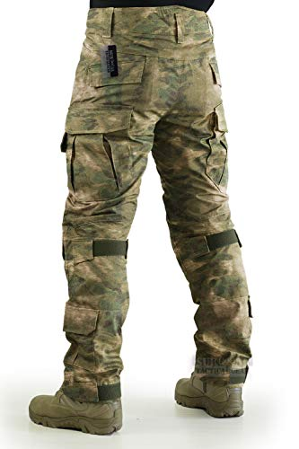 ZAPT Tactical Pants with Knee Pads Airsoft Camping Hiking Hunting BDU Ripstop Combat Pants 13 Kinds Army Camo Uniform Military Trousers (FG Camo, L36)