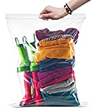 Large Roaster Food Storage Ziplock Bag, 5 Gallon Zip & Lock Strong clear heavy plastic bags, 2 Mil thick, Pack of 10