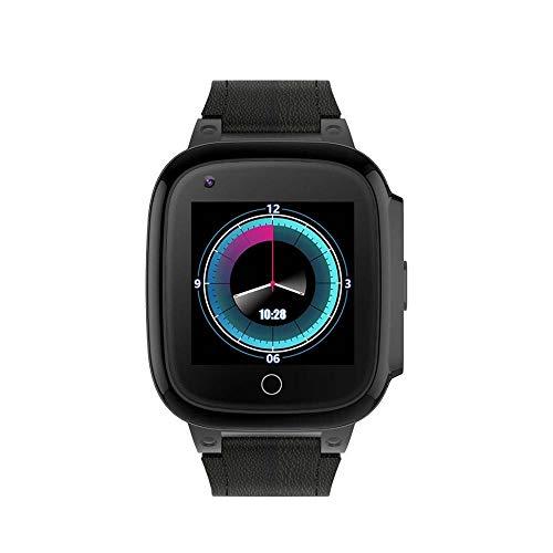 Reloj inteligente con GPS para ancianos, frecuencia cardíaca 4G monitorización de la presión arterial videollamada contador de pasos, mensajes de voz SOS rastreador de ejercicios a prueba de agua