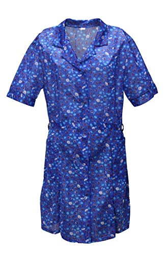 Kittel Schürze Kittelschürze mit 1/4 Arm Dederon Polyester, Farbe:Dessin 2, Größe:42