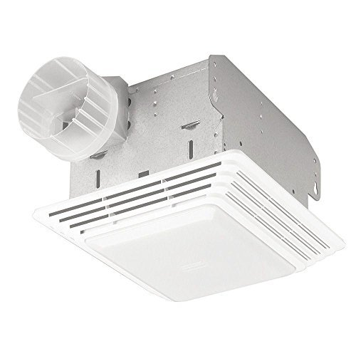 Broan 678 Ventilation Fan and Light Combination, 50 CFM and 2.5-Sones by Broan
