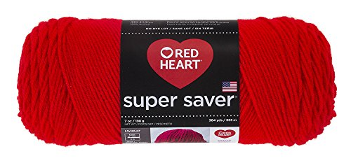 Red Heart Super Saver Yarn, Hot Red