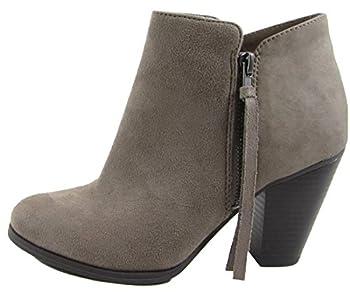 SODA Womens Keira Tassel Zip Boot Shoes Keira-TPETaupe 8