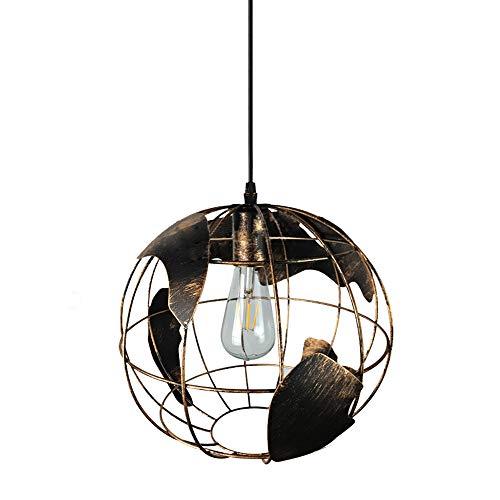 HJXDtech Hängeleuchte E27 Hängeleuchte Mondo Modern Lampe bunt Glas Klassisch Colore Ruggine