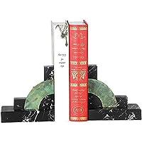 Yangmanini 古典的な優雅な大理石半円形状ブックエンドマガジンシェルフリビングルームのテレビキャビネットベッドルームホテルカフェ書店デスクトップの装飾30 * 9 * 15CM