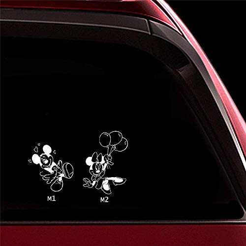 Car Sticker Car Decal Balloon Minnie Mickey Mouse Decals Car Stickers Art Car Decor Car Body Window Door Rear Windshield