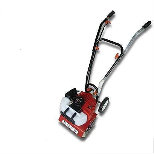 Motoazada 2 CV, 52 cc, 4 dientes con 4 cuchillas de 8-10 cm de profundidad de trabajo, mini motocultor de gasolina con 2 ruedas, para cavar aflojar del suelo a plantar perfectamente