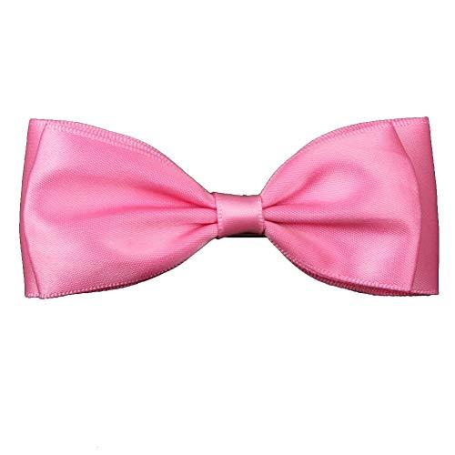 BOLAWOO-77 Coiffure Bandeau Bande Cheveux Élégant Élégant Doux Mignon Coiffure Mode Chic Bande De Cheveux 1 Paire 9 5 Cm Satin Noeud Papillon Forme Avec Clip (Color : Hot Pink, Size : One Size)