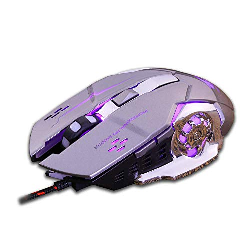 N-K PULABO PULABO Wired Mouse, Wired LED Light 4000DPI Optical Usb Ergonomic Pro Gamer Gaming Mouse Metal Plate Wired Gaming Mouse Computer Mouse Usb Mouse Pc Mouse Laptop Mouse delicate beautiful