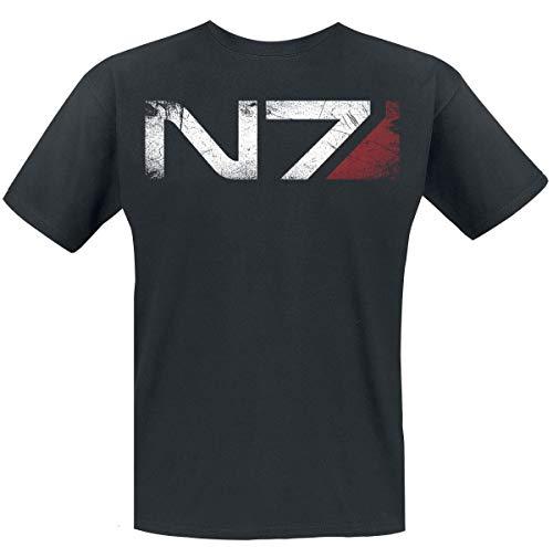 Mass Effect Herren T-Shirt N7 Andromeda Distressed Gr. S, Schwarz