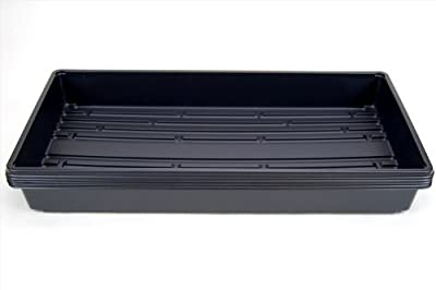 """Plant Growing Trays (No Drain Holes) - 20"""" x 10"""" - Perfect Garden Seed Starter Grow or Drip Trays: For Seedlings, Indoor Gardening, Growing Microgreens, Wheatgrass & More - Soil or Hydroponic"""