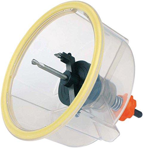 Falke Metall-Kreisschneider FKS-CI (mit Schutzhaube) - für Stahlbleche bis 3 mm, NE-Metalle und Kunststoff | Durchmesser stufenlos einstellbar (30-130 mm)