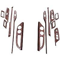 インテリアパネル アルファード/ヴェルファイア ALPHARD/VELLFIRE 20系 13ピースセット 内装 パネル インテリア パーツ カスタムパーツ(茶木目)