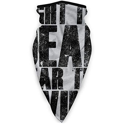 "BUGKHD Kopfbedeckung mit Aufschrift ""Walking Dead Fight The Dead Fear The Living"""