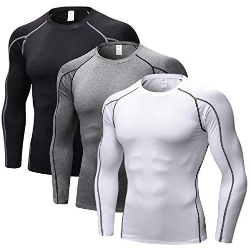 ZENGVEE para Camisetas de Compresión Hombres de Secado Rápido, Paquete de 3 Chalecos, Camisetas para Hombre, Camisetas Sin Mangas