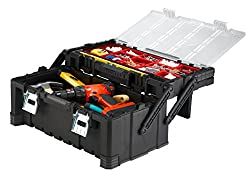 Keter 22 Inch Cantilever Plastic Portable Tool Box Organizer