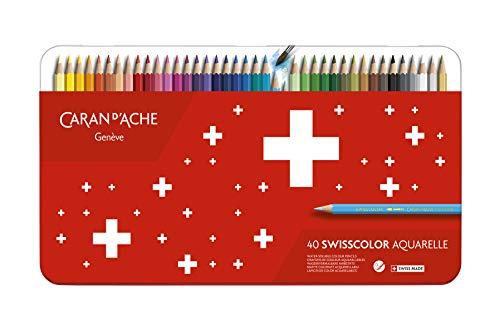 Caran d'Ache 1285.74 Swisscolor Aquarell Bleistifte, 40 Stück