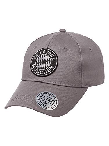 FC Bayern München Baseballcap Emblem grau