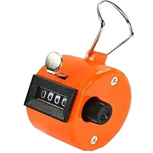 ADD GEAR Lap Counter 4 Digit Counting Machine Heavy Duty Resettable Manual Click Pooja Mantra Jap Tasbeeh Chanting Finger Counter Tally