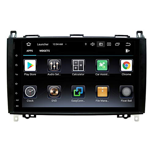 9 Pollici Autoradio 2 Din Android 10 per Mercedes W906 Sprinter/V-Class W639/Vito/Viano/B-Class W245 B160 B170 B180 B200, Supporto Navigazione GPS Bluetooth AM PM WIFI SWC DSP DAB+, 2+80GB