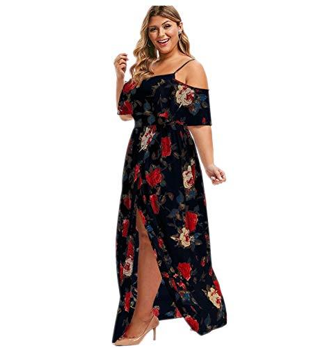 Theshy Vestido De Noche Vintage Playa Manga Vacaciones Seguro para Mujer Pareja Corta Boda Amamantamiento Floral Correas Volantes Verano Largo Compras