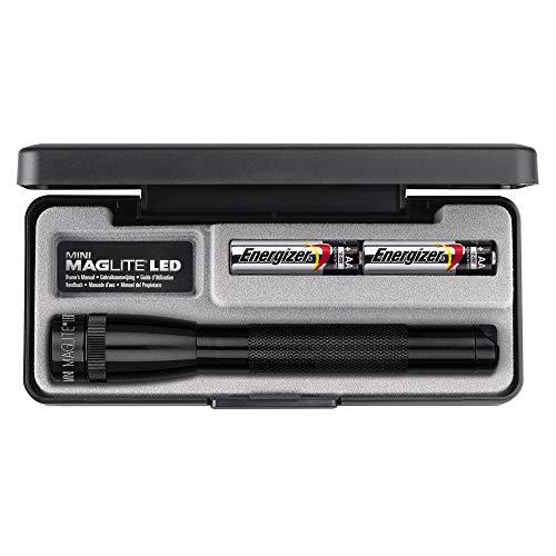 Maglite Mini LED 2-Cell AA Flashlight in Presentation Box Black