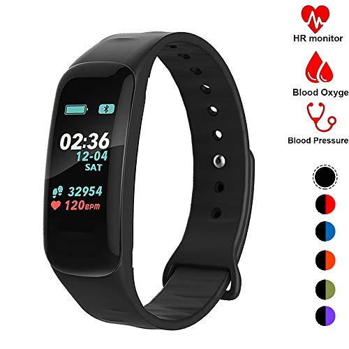 Fitness Tracker,Activity Tracker Watch with Heart Rate Blood Pressure Blood Oxygen Monitor,Waterproof Smart