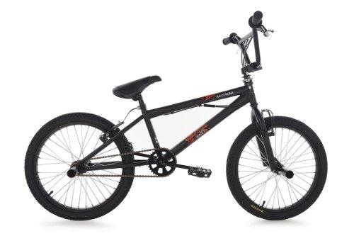 KS Cycling Jungen Fahrrad BMX Freestyle 20 zoll Fatt, Schwarz, Rahmenhöhe: 26 cm, Reifengröße: 20 zoll (51 cm), 500B