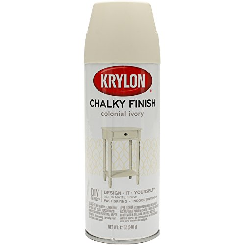 Krylon SW4108 Colonial Ivory, Spray Paint, Chalky Finish, 12 Oz, Aerosol, 12 Ounce