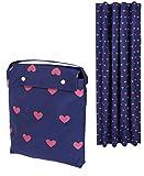 Amazon Basics – Cortina opaca de viaje con ventosas ideal para niños, corazones rosas
