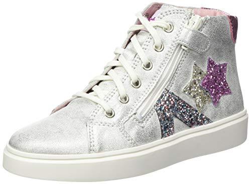 Richter Kinderschuhe Mädchen Flora Star Hohe Sneaker, Silber (Silver/Candy 0201), 34 EU