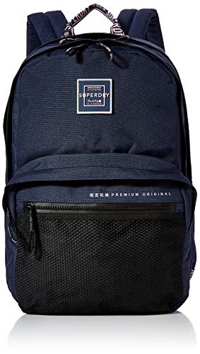 Superdry Damen Hayden Backpack Rucksack, Blau (Rinsed Navy), 35x20x45 cm
