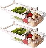 Shopwithgreen Organizador de cajones para frigorífico,cajón retráctil,caja de almacenamiento para,compartimentos extraíbles de único,caja de almacenamiento para soporte estante para frigorífico