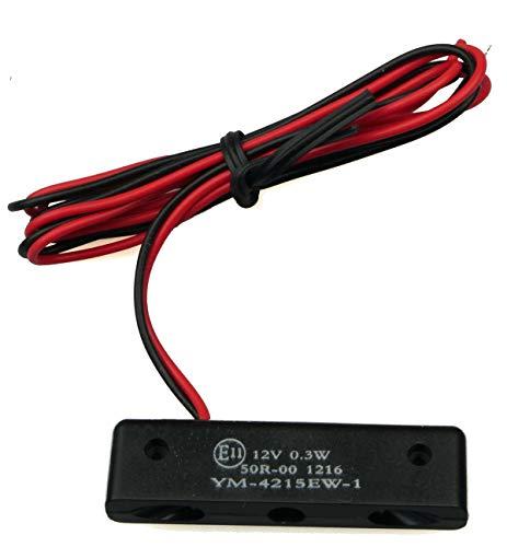 IGUANA CUSTOM PARTS - Micro luz de iluminación de matricula de moto con tres leds, pequeña y HOMOLOGADA E-MARK funciona a 12v y es resistente al agua.