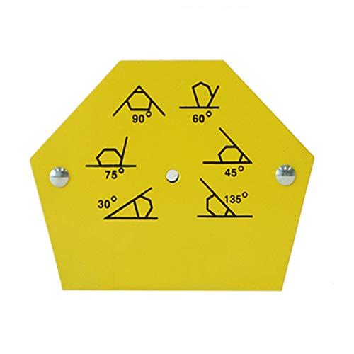 Magnetische Schweißwinkel Magnetwinkel Schweißmagnet Winkelmagnet,30 °, 45 °, 60 °, 75 °, 90 °, 105 ° Festwinkelwerkzeug zum Löten,Montieren und Installieren von Rohren (Gelb),L