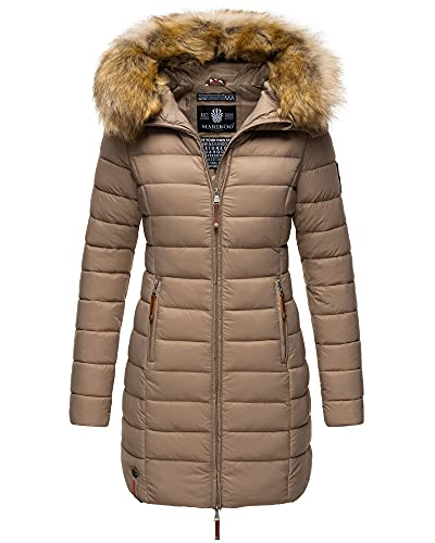 MARIKOO Damen Winter Jacke Stepp Mantel...