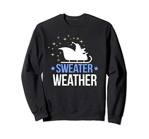 Pullover Wetter Weihnachten mit Santa Silhouette Schlitten Sweatshirt