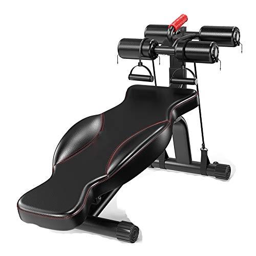 YYCHJU Sport & Freizeit Verstellbar Hantelbank Heavy Duty Stahl Gewichtsbank, einstellbar Sit Up AB Neigung ABS Bank Flat Fliegengewicht Press Fitness Seil