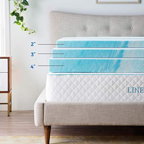 Linenspa 3-Inch Gel Swirl Memory Foam Topper