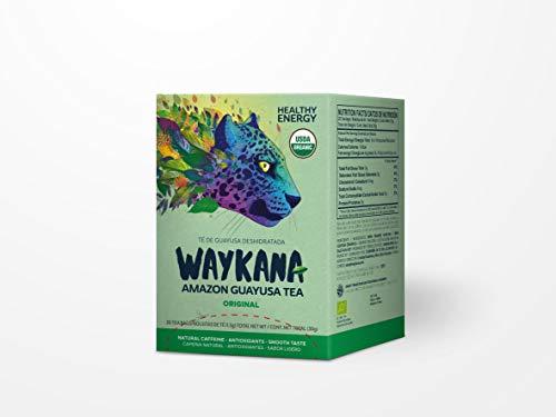 WAYKANA Guayusa - Tee, BIO - Kräutertee mit natürlichem Koffein - 20 Teebeutel á 1,5 gr