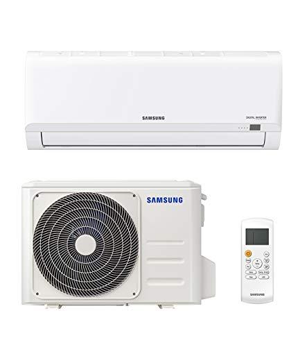 Samsung Clima AR30 Malibu Climatizzatore Monosplit, 12000 BTU, GAS R32, AR12TXHQBWKNEU+AR12TXHQBWKXEU, [Classe di efficienza energetica A++/A]