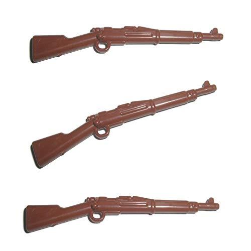 3X M1903 Springfield Karabiner Gewehr der USA im WW1 & WW2 - Custom Soldaten Waffe für Lego Figuren