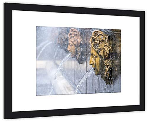 GaviaStore Art Prints - Peterhof - con Marco 70x50 cm - Cuadros Impresiones Pintura Cartel Foto Mueble hogar impresión decoración casa Sala Poster Cuadro Imagen Enmarcado Wall Picture