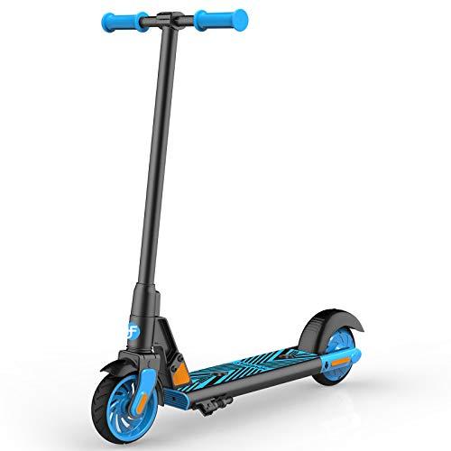 Elektro Scooter für Kinder, HOVERFLY GKS 150W Elektro Kinderroller ab 6 bis 12 Jahren, Electric Roller 12 km/h, 6' Vollreifen, Kick-Start Boost für Kinder/Mädchen/Jungliche Frau, bis 55kg
