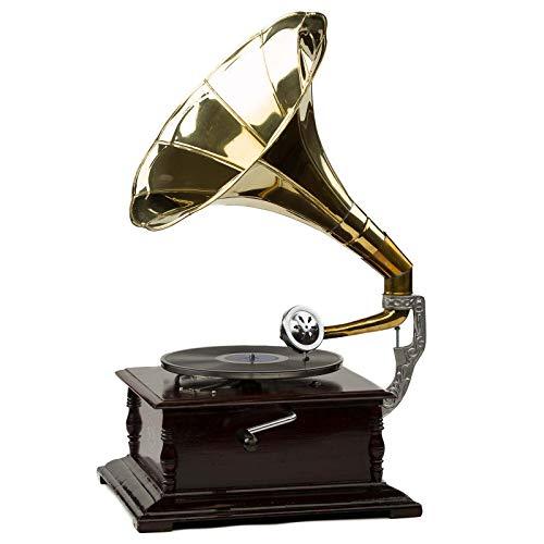aubaho Nostalgie Grammophon Schellackplatten Gramophone Trichtergrammophon Antikstil