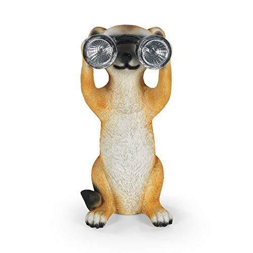 easymaxx 06444lámpara solar de suricato con prismáticos resistente a la lluvia, 8horas de duración, luz de día Sensor, encendido y apagado automático