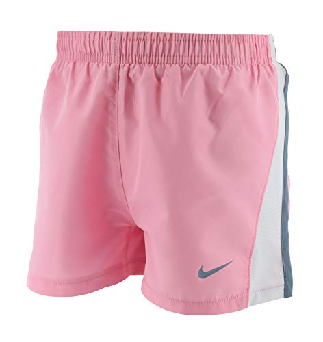 Nike Girl`s Dry Tempo Running Shorts (Pink(26D186-A8F)/White, 2T)