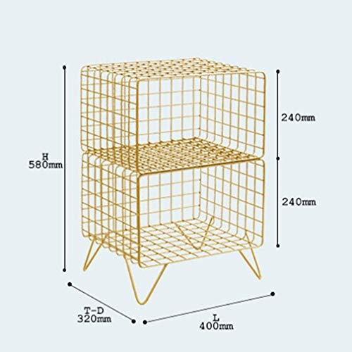 XinMöbel Nachttisch Einfache Moderne Schlafzimmer Nachttisch Metallschrank Mini Kreative Persönlichkeit Multifunktionale Lagerung Größe: 40x32x58cm (Color : White)