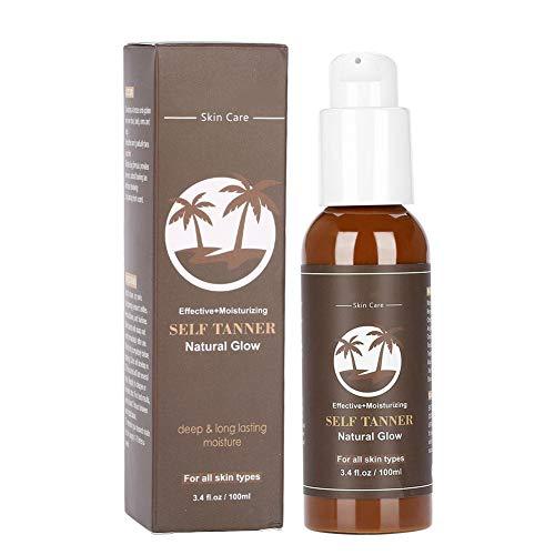 Autobronceador de larga duración Crema bronceadora corporal Loción autobronceadora hidratante para piel bronceada natural